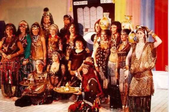 Photograph of Bal-Anat, taken at 1990 reunion show. Bal-Anat is the troupe who originated the American tribal style, in the 1970's.